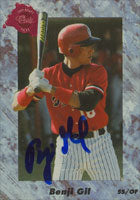 Benji Gil Texas Rangers 1991 Classic Draft Picks Autographed Card. This item comes with a certificate of authenticity from Autograph-Sports. PSM-Powers Sports Memorabilia
