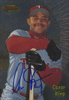 Cesar King Texas Rangers 1998 Bowman's Best Autographed Card. This item comes with a certificate of authenticity from Autograph-Sports. PSM-Powers Sports Memorabilia