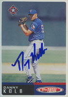 Danny Kolb Texas Rangers 2000 Topps Total Autographed Card. This item comes with a certificate of authenticity from Autograph-Sports. PSM-Powers Sports Memorabilia