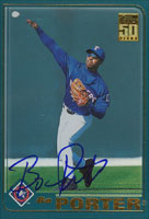 Bo Porter Texas Rangers 2001 Topps Autographed Card. This item comes with a certificate of authenticity from Autograph-Sports. PSM-Powers Sports Memorabilia