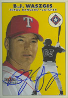 B.J. Waszgis Texas Rangers 2000 Fleer Tradition Autographed Card. This item comes with a certificate of authenticity from Autograph-Sports. PSM-Powers Sports Memorabilia