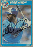 Willie Aikens Toronto Blue Jays 1985 Fleer Autographed Card. This item comes with a certificate of authenticity from Autograph-Sports. PSM-Powers Sports Memorabilia