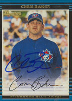 Chris Baker Toronto Blue Jays 2002 Bowman Autographed Card. This item comes with a certificate of authenticity from Autograph-Sports. PSM-Powers Sports Memorabilia
