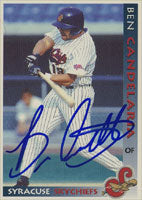 Ben Candelaria Syracuse Skychiefs - Blue Jays Affiliate 1998 Grandstand Autographed Card - Minor League Card. This item comes with a certificate of authenticity from Autograph-Sports. PSM-Powers Sports Memorabilia