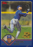 Alex Rios Toronto Blue Jays 2002 Topps 1st Year Card Autographed Card. This item comes with a certificate of authenticity from Autograph-Sports. PSM-Powers Sports Memorabilia