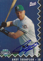 Andy Thompson Knoxville Smokies - Blue Jays Affiliate 1997 Best Cards Autographed Card - Minor League Card. This item comes with a certificate of authenticity from Autograph-Sports. PSM-Powers Sports Memorabilia
