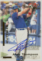 Andy Thompson Toronto Blue Jays 2001 Fleer Triple Crown Autographed Card. This item comes with a certificate of authenticity from Autograph-Sports. PSM-Powers Sports Memorabilia