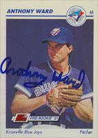 Anthony Ward Knoxville Blue Jays - Blue Jays Affiliate 1991 Line Drive Pre-Rookie Autographed Card - Minor League Card. This item comes with a certificate of authenticity from Autograph-Sports. PSM-Powers Sports Memorabilia