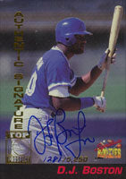 D.J. Boston Hagerstown Suns - Blue Jays Affiliate 1994 Signiture Rookies Certified Autograph Autographed Card - Certified Autograph 1281 of 5250. This item comes with a certificate of authenticity from Autograph-Sports. PSM-Powers Sports Memorabilia