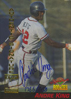Andre King Atlanta Braves 1994 Signiture Rookies Certified Autograph Autographed Card - Certifed Autograph 1766 of 8650. This item comes with a certificate of authenticity from Autograph-Sports. PSM-Powers Sports Memorabilia