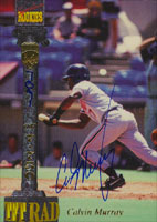 Calvin Murray Phoenix Firebirds - Giants Affiliate 1994 Signiture Rookies Certified Autograph Autographed Card - Certified Autograph 7091 of 7750. This item comes with a certificate of authenticity from Autograph-Sports. PSM-Powers Sports Memorabilia