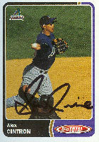 Alex Cintron Tucson Sidewinders - Diamondbacks Affiliate 2003 Topps Total Autographed Card - Minor League Card. This item comes with a certificate of authenticity from Autograph-Sports. PSM-Powers Sports Memorabilia