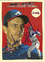 Andy Ashby Atlanta Braves 2000 Fleer Tradition Autographed Card. This item comes with a certificate of authenticity from Autograph-Sports. PSM-Powers Sports Memorabilia