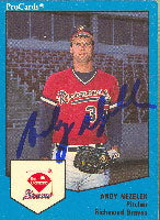 Andy Nezelek Richmond Braves - Braves Affiliate 1989 Pro Cards Autographed Card - Minor League Card. This item comes with a certificate of authenticity from Autograph-Sports. PSM-Powers Sports Memorabilia