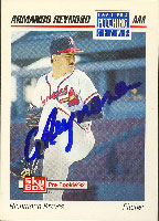 Armando Reynoso Richmond Braves - Braves Affiliate 1992 Skybox Pre Rookie ERA Pitching Champ Autographed Card - Minor League Card. This item comes with a certificate of authenticity from Autograph-Sports. PSM-Powers Sports Memorabilia