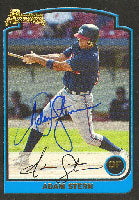 Adam Stern Myrtle Beach Pelicans - Braves Affiliate 2003 Bowman 1st Year Card Autographed Card - Minor League Card. This item comes with a certificate of authenticity from Autograph-Sports. PSM-Powers Sports Memorabilia