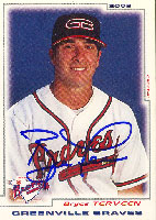 Bryce Terveen Greenville Braves - Braves Affiliate 2002 Grandstand Autographed Card - Minor League Card. This item comes with a certificate of authenticity from Autograph-Sports. PSM-Powers Sports Memorabilia
