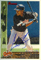Curtis Goodwin Baltimore Orioles 1995 Bowman Autographed Card. This item comes with a certificate of authenticity from Autograph-Sports. PSM-Powers Sports Memorabilia