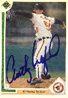 Anthony Telford Baltimore Orioles 1991 Upper Deck Autographed Card. This item comes with a certificate of authenticity from Autograph-Sports. PSM-Powers Sports Memorabilia