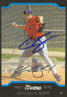 Charlie Zink Sarasota Red Sox - Red Sox Affiliate 2004 Bowman First Year Autographed Card - Minor League Card. This item comes with a certificate of authenticity from Autograph-Sports. PSM-Powers Sports Memorabilia