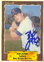 Bob Zupcic New Britain Red Sox - Red Sox Affiliate 1990 Pro Cards Autographed Card - Minor League Card. This item comes with a certificate of authenticity from Autograph-Sports. PSM-Powers Sports Memorabilia
