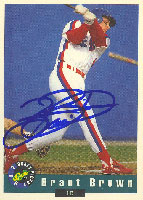 Brant Brown Chicago Cubs 1992 Classic Draft Picks Autographed Card. This item comes with a certificate of authenticity from Autograph-Sports. PSM-Powers Sports Memorabilia