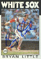 Bryan Little Chicago White Sox 1986 Topps Autographed Card. This item comes with a certificate of authenticity from Autograph-Sports. PSM-Powers Sports Memorabilia