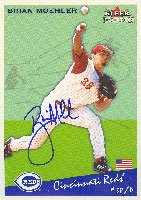 Brian Moehler Cincinnati Reds 2002 Fleer Tradition Prospect Autographed Card. This item comes with a certificate of authenticity from Autograph-Sports. PSM-Powers Sports Memorabilia