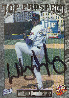 Anthony Dougherty Akron Aeros - Indians Affiliate 1997 Best Top Prospect Autographed Card - Minor League Card. This item comes with a certificate of authenticity from Autograph-Sports. PSM-Powers Sports Memorabilia