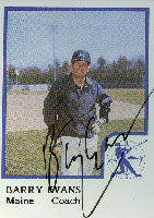 Barry Evans Maine Guides - Indians Affiliate 1986 Pro Cards Autographed Card - Minor League Card. This item comes with a certificate of authenticity from Autograph-Sports. PSM-Powers Sports Memorabilia