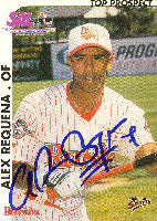Alex Requena Columbus RedStixx - Indians Affiliate 2000 Multi-Ad Sports Autographed Card - Minor League Card. This item comes with a certificate of authenticity from Autograph-Sports. PSM-Powers Sports Memorabilia