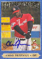 Choo Freeman Asheville Tourists - Rockies Affiliate 1999 Multi-Ad Sports Top Prospect Autographed Card - Minor League Card. This item comes with a certificate of authenticity from Autograph-Sports. PSM-Powers Sports Memorabilia