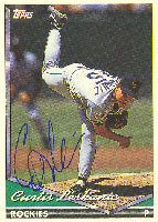 Curtis Leskanic Colorado Rockies 1994 Topps Autographed Card. This item comes with a certificate of authenticity from Autograph-Sports. PSM-Powers Sports Memorabilia