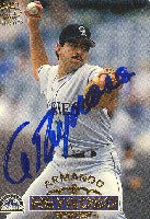 Armando Reynoso Colorado Rockies 1996 Pacific Collection Autographed Card. This item comes with a certificate of authenticity from Autograph-Sports. PSM-Powers Sports Memorabilia