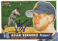 Adam Bernero Detroit Tigers 2001 Fleer Tradition Autographed Card. This item comes with a certificate of authenticity from Autograph-Sports. PSM-Powers Sports Memorabilia