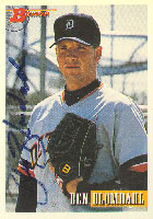 Ben Blomdahl Detroit Tigers 1993 Bowman Autographed Card. This item comes with a certificate of authenticity from Autograph-Sports. PSM-Powers Sports Memorabilia