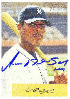 Anderson Hernandez GCL Tigers - Tigers Affiliate 2002 Bowman Heritage Autographed Card - Minor League Card. This item comes with a certificate of authenticity from Autograph-Sports. PSM-Powers Sports Memorabilia