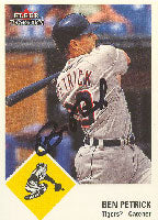 Ben Petrick Detroit Tigers 2003 Fleer Tradition Prospect Autographed Card. This item comes with a certificate of authenticity from Autograph-Sports. PSM-Powers Sports Memorabilia