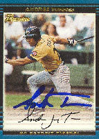 Andres Torres Erie Seawolves - Tigers Affiliate 2002 Bowman Autographed Card - Minor League Card. This item comes with a certificate of authenticity from Autograph-Sports. PSM-Powers Sports Memorabilia