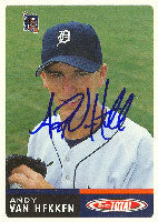 Andy Van Hekken Lakeland Tigers - Tigers Affiliate 2002 Topps Total Autographed Card - Minor League Card. This item comes with a certificate of authenticity from Autograph-Sports. PSM-Powers Sports Memorabilia