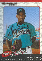 Benito Baez Florida Marlins 2001 Donruss The Rookies Autographed Card - Rookie Card. This item comes with a certificate of authenticity from Autograph-Sports. PSM-Powers Sports Memorabilia