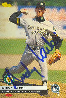 Andy Larkin Kane County Cougars - Marlins Affilliate 1994 Classic Autographed Card - Minor League Card. This item comes with a certificate of authenticity from Autograph-Sports. PSM-Powers Sports Memorabilia