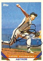 Xavier Hernandez Houston Astros 1993 Topps Autographed Card. This item comes with a certificate of authenticity from Autograph-Sports. PSM-Powers Sports Memorabilia