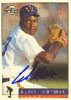 Alvin Morman Jackson Generals - Astros Affiliate 1994 Fleer Excel Autographed Card - Minor League Card. This item comes with a certificate of authenticity from Autograph-Sports. PSM-Powers Sports Memorabilia
