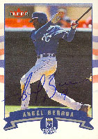 Angel Berroa Kansas City Royals 2002 Fleer Autographed Card. This item comes with a certificate of authenticity from Autograph-Sports. PSM-Powers Sports Memorabilia
