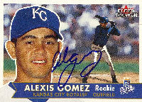 Alexis Gomez Kansas City Royals 2001 Fleer Tradition Autographed Card - Rookie Card. This item comes with a certificate of authenticity from Autograph-Sports. PSM-Powers Sports Memorabilia