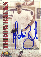 Adrian Burnside Los Angeles Dodgers 2001 Royal Rookies Throwbacks Autographed Card. This item comes with a certificate of authenticity from Autograph-Sports. PSM-Powers Sports Memorabilia