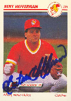 Bert Heffernan Albuquerque Dukes - Dodgers Affiliate 1991 Line Drive Pre Rookie Autographed Card - Minor League Card. This item comes with a certificate of authenticity from Autograph-Sports. PSM-Powers Sports Memorabilia