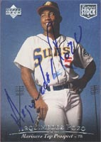 Arquimidez Pozo Seattle Mariners 1994 Upper Deck SP Top Prospects Autographed Card - Minor League Card - smudged signature. This item comes with a certificate of authenticity from Autograph-Sports. PSM-Powers Sports Memorabilia