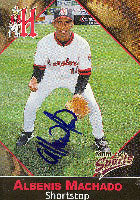 Albenis Machado Harrisburg Senators - Expos Affiliate 2001 Multi-Ad Sports Autographed Card - Minor League Card. This item comes with a certificate of authenticity from Autograph-Sports. PSM-Powers Sports Memorabilia